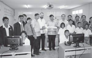 Hotel de la Paix opens ICT room for Baan Bangkate School