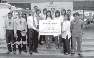 Hotel de la Paix To help flood victims