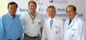 Bangkok Hospital Hua Hin hosted members and guests