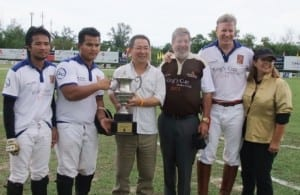 Royal Trophy for Hua Hin Elephant Polo
