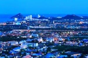 15320713-hua-hin-city-in-twilight-thailand