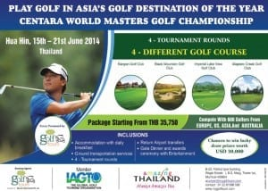Centara World Masters Golf Championship Heads for EARLY sell-out