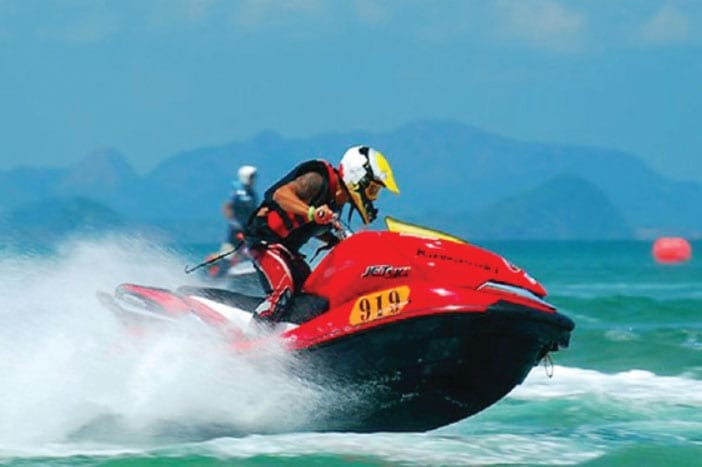 Thailand Jet Ski Championship Round at Cha Am beach