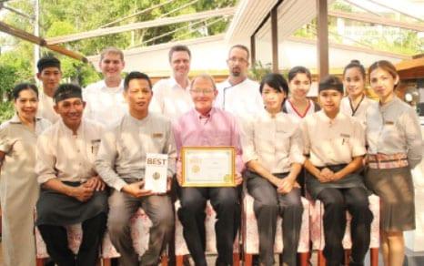 Thailand Tatler Award the Best Restaurant Certificate to Hagi Japanese Restaurant