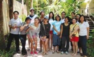 Familiarisation trip visitors