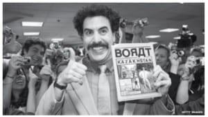 Kazakh Book Cites Borat Character: Kazakhstan