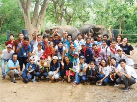 Sheraton Volunteers at Wildlife Friends Foundation Thailand