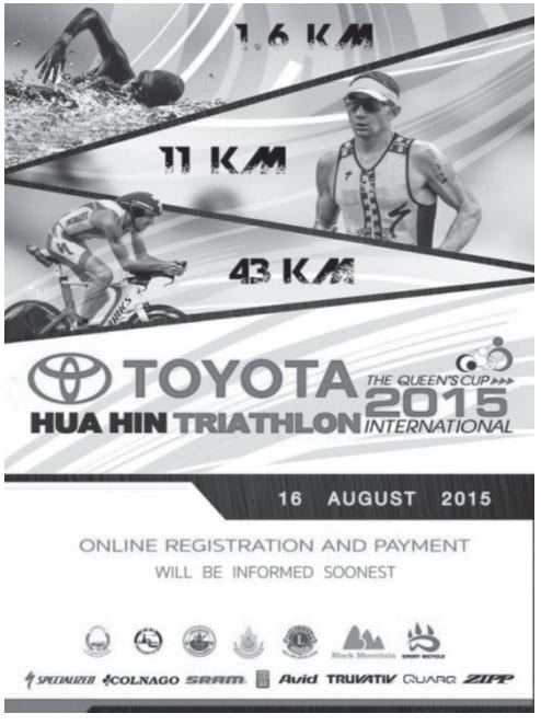 Swim, Bike & Run- The Queen's Cup Hua Hin International Triathlon 2015