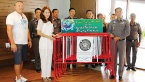 Vana Nava Hua Hin support traffic barrier to Provincial Police Region 7