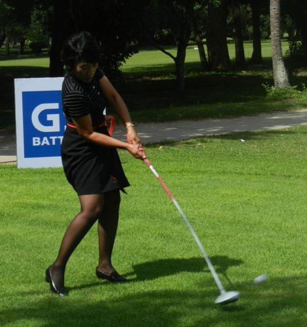 Golf in The Palm of Her Hands