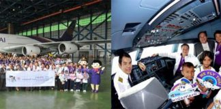 Thai Airways & TAT Organise Flight and Field Trip for Underprivileged Children