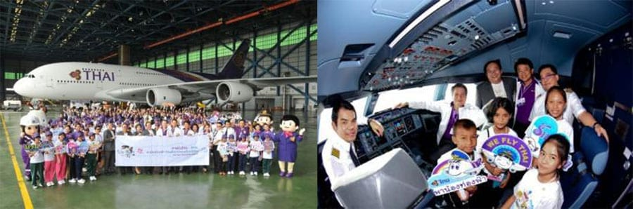 Thai Airways & TAT Organise Flight and Field Trip for Underprivileged Children