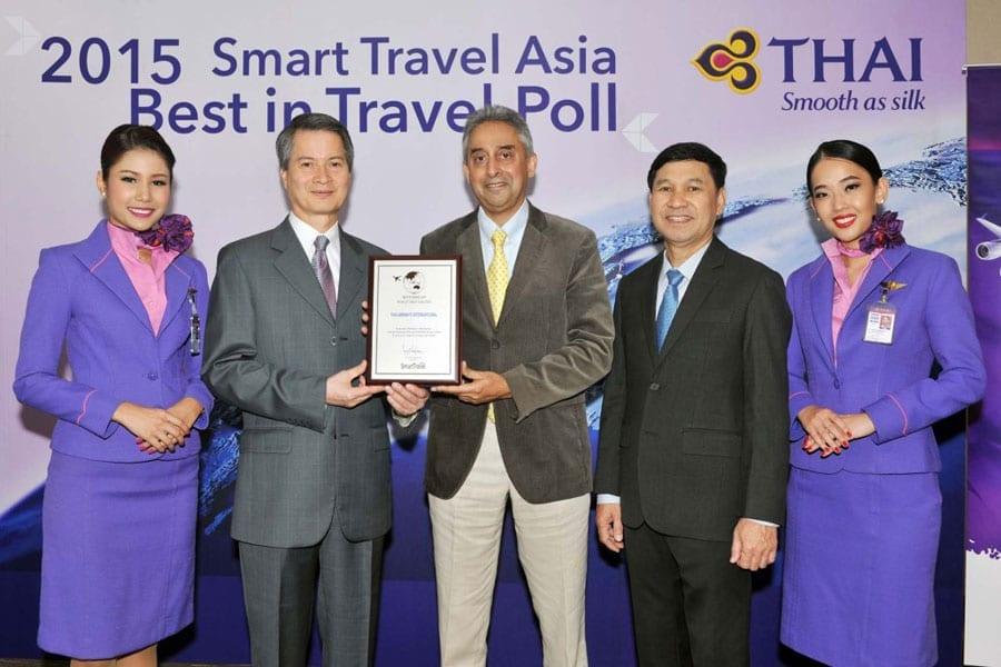 Thai Airways Receives Three Smart Travel Asia Awards