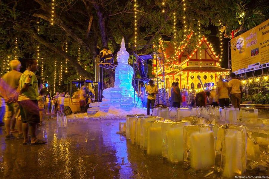 Sculpting a Frozen Buddha Statue