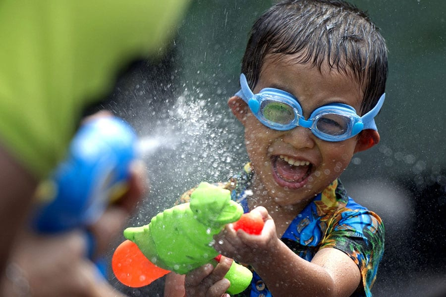 Think About Saving Water, Even At Songkran