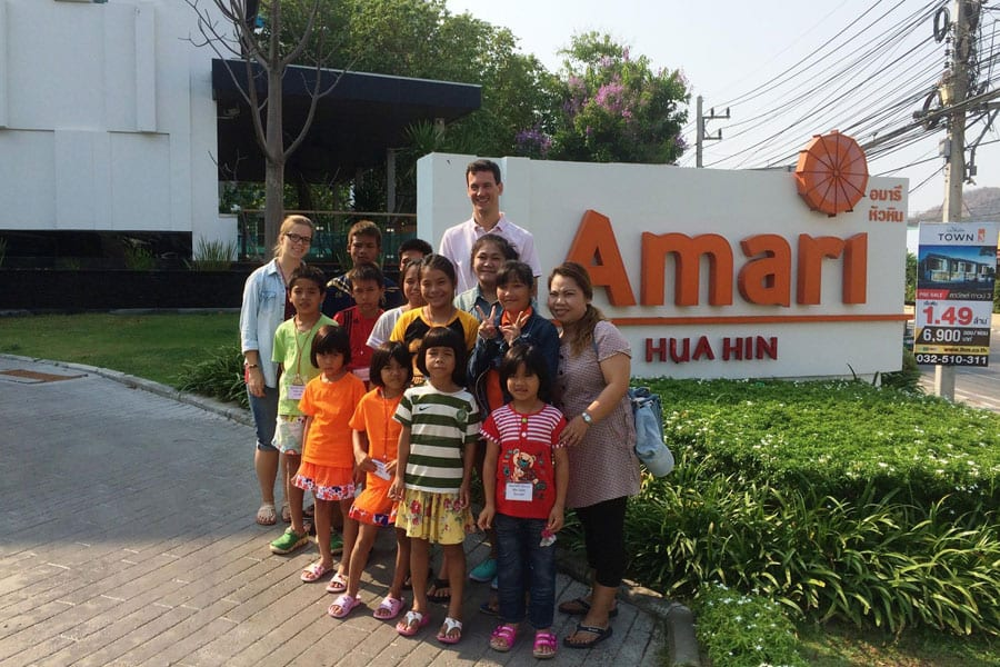 Amari Hua Hin Welcomes Children from Sarnelli House, Nongkha