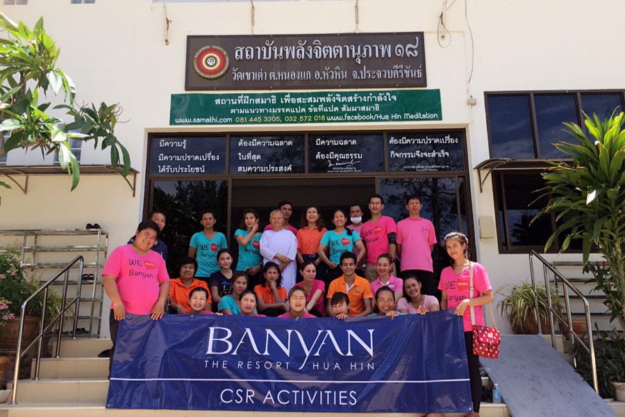 Banyan The Resort Helping the Khao Tao Temple
