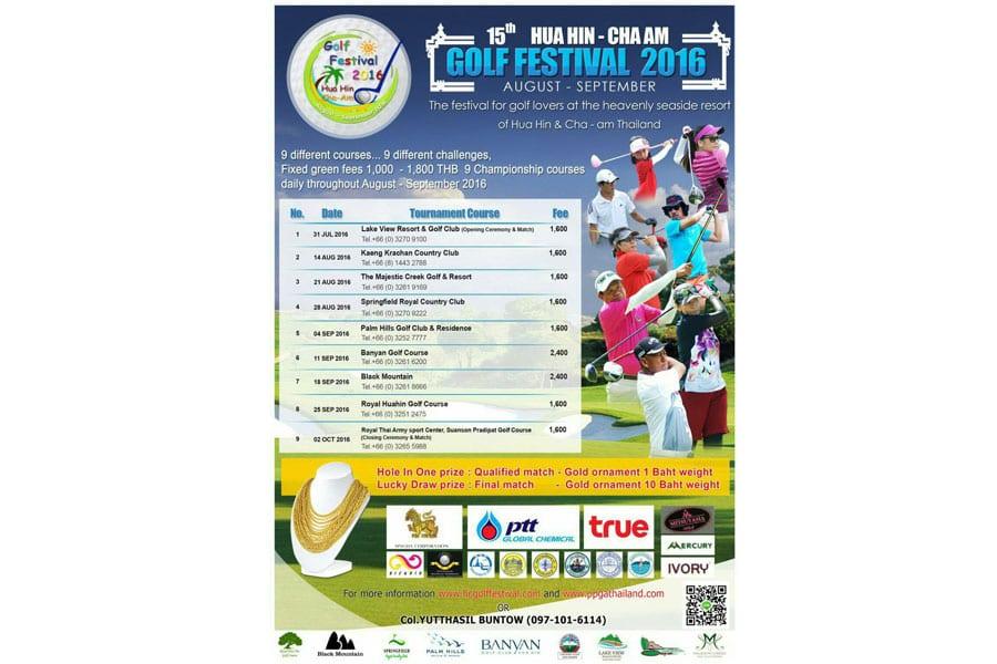 The 14th Hua Hin/Cha-Am Golf Festival 2015