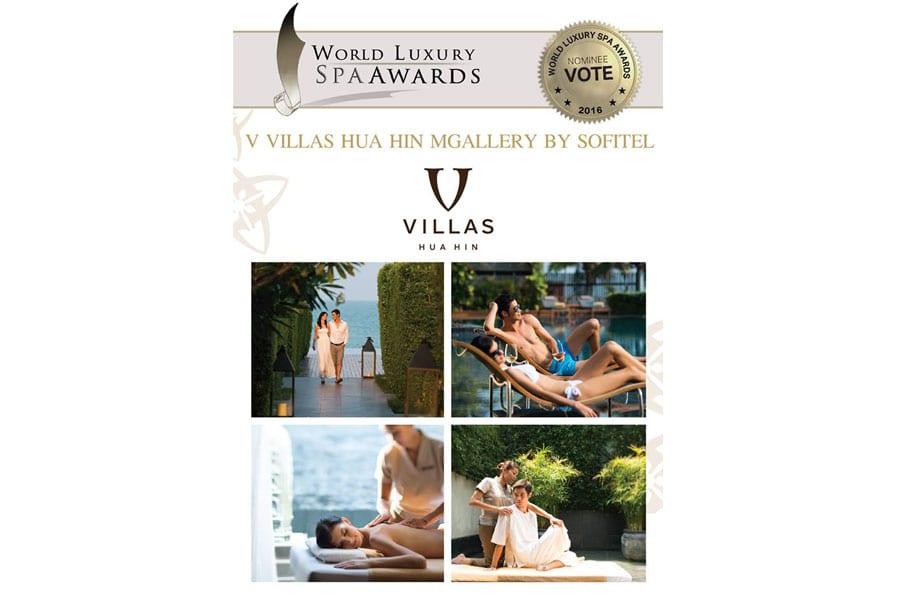 V Spa in V Villas Hua Hin Awarded World Luxury Spa Award 2016