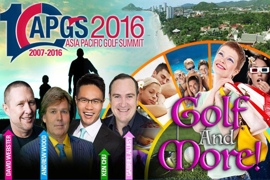 """Golf and More"" at the 10th APGS Summit 2016 in Hua Hin"