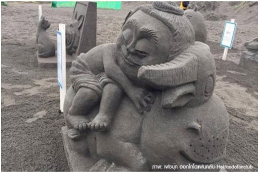 Hua Hin artist Wins Sand Sculpture Competition in Japan