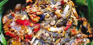 Exotic Cuisine in Thailand Mok Huak (Developing Frog Tadpoles)