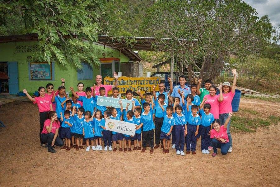 Hyatt Thrive - Supporting Baan Wang Pla School