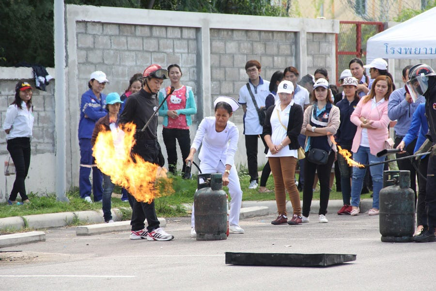 Bangkok Hospital Fire Fighting Training
