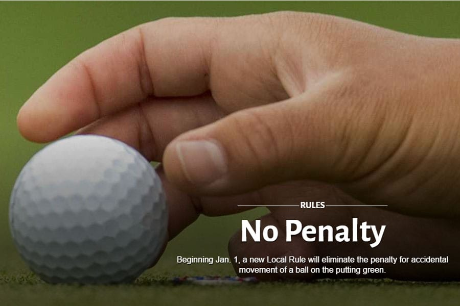 New Golf Local Rule Available: No Penalty For Accidental Movement of Golf Ball On The Green
