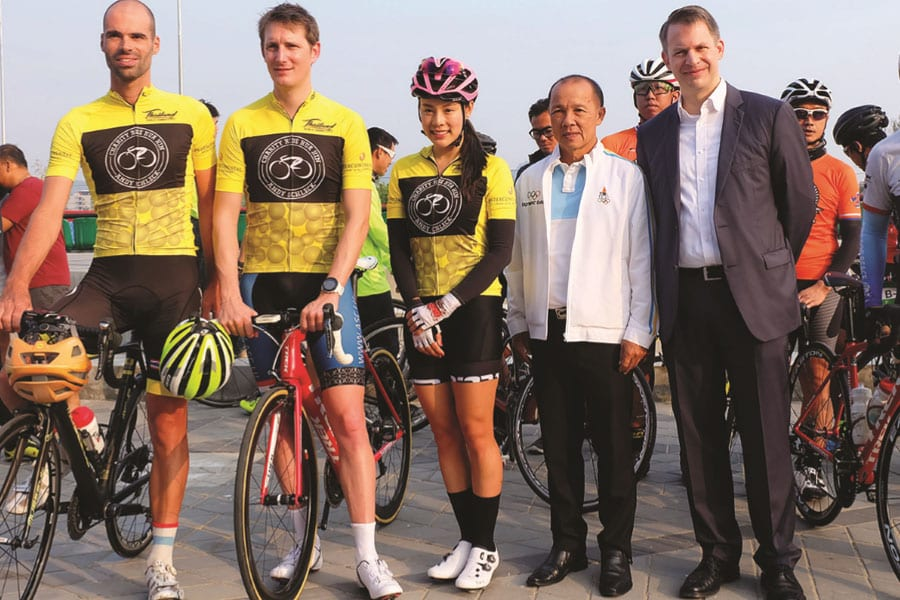 Celebrity Cyclists in 'Tour De Hua Hin'