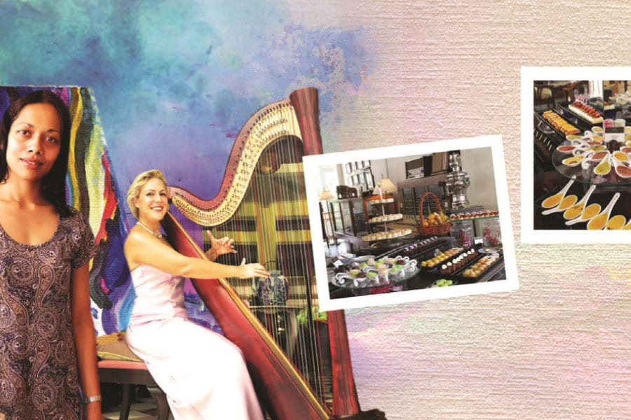 Art with Aarti to the Music of the Harp with Chiara