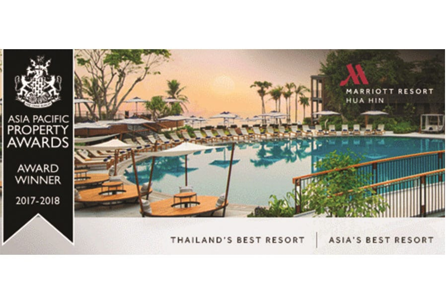 Hua Hin Marriott Resort & Spa Wins Two Awards at Exotiq Thailand Awards 2017