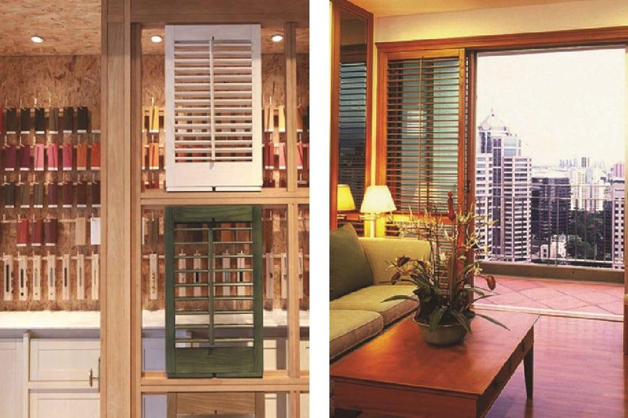 Wooden Shutters in Hua Hin;  Fashionable Then & Fashionable Now