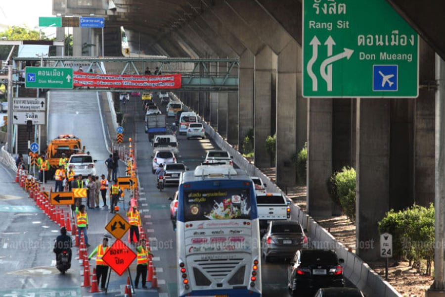 Don Mueang Bridge Renovations Started