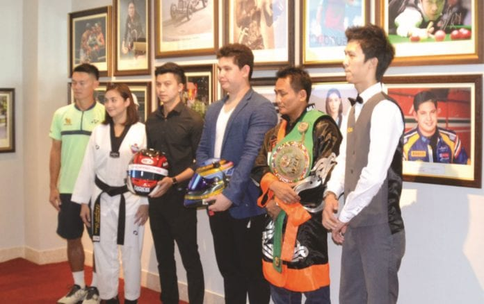 Thailand's Sporting Heroes at the Sheraton's Wall of Fame