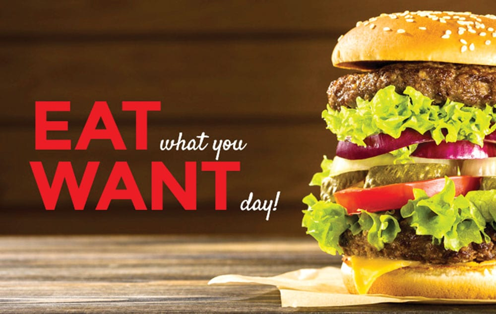May 11th Eat What You Want Day