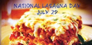 July 29th: National Lasagna Day