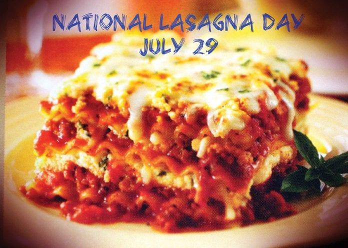 July 29th: National Lasagna Day