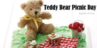 July 10th: Teddy Bear Picnic Day July 2018