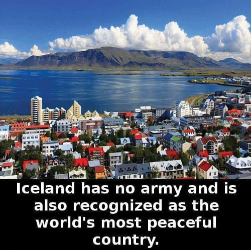 Iceland Named Most Peaceful Country in the World for the 11th Year in a Row