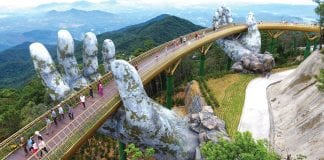 The 'Hands of God' Lift Vietnam's Golden Bridge