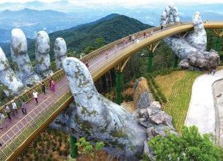 The 'Hands of God' Lift Vietnam's Golden Bridge