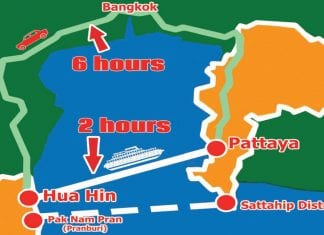 Plans for New Car Ferry Linking Hua Hin and Sattahip Mooted
