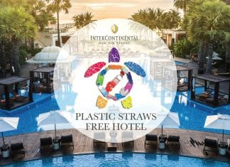 The Intercontinental Hua Hin Resort is Now Plastic Straw-free