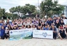 Beach Clean Up At Baba Beach Club Hua Hin and Thew Talay Estate