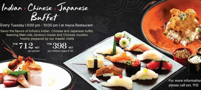 InAzia Asian Dinner Buffet at Sheraton Hua Hin