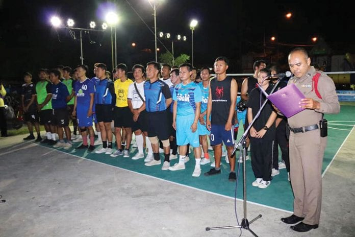 Opening an Anti-drug Sports Event