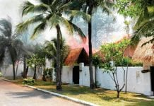 Fire Ravages at Dhevan Dara Resort