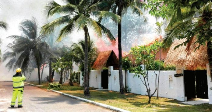 Fire Ravages at Dhevan Dara Resort