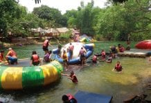 Enjoying the Kaeng Krachan Fresh Water Playground